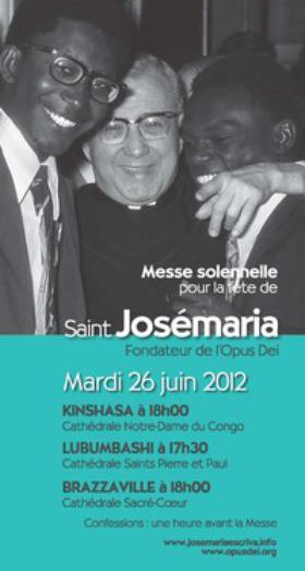 Messes en R.D. du Congo et Brazzaville pour la fête de saint Josémaria