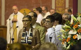 Fotos de la missa d'acció de gràcies a Sant Feliu de Llobregat