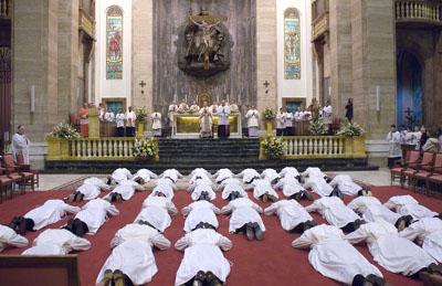 Prelate Ordains 35 Deacons