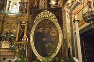 Il Prelato benedice una tela di san Josemaría in Santa Maria di Guadalupe