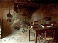 The kitchen in the Curé's cottage