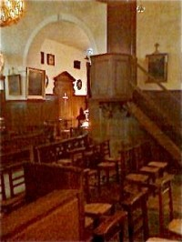 Inside the Old Church where St John Mary Vianney preached and heard confessions