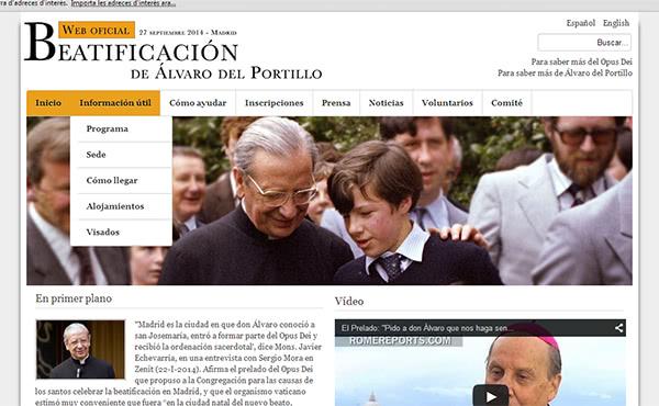 Detalls de la beatificació d'Álvaro del Portillo