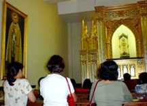 The Blessed Sacrament Adoration Chapel at the Tarlac Cathedral was inaugurated in June 19, 2002.