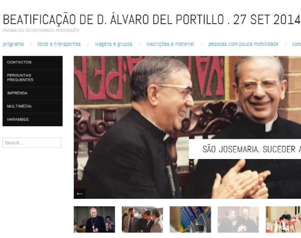 Site português sobre a beatificação de D.Álvaro