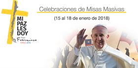 Recorridos del Papa en Chile y cómo obtener entradas para las tres misas masivas