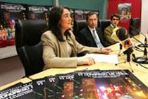 Monica Codina, Komunikabidetako Fakultateko irakaslea, eta Jaime Nubiola, errektoreordea