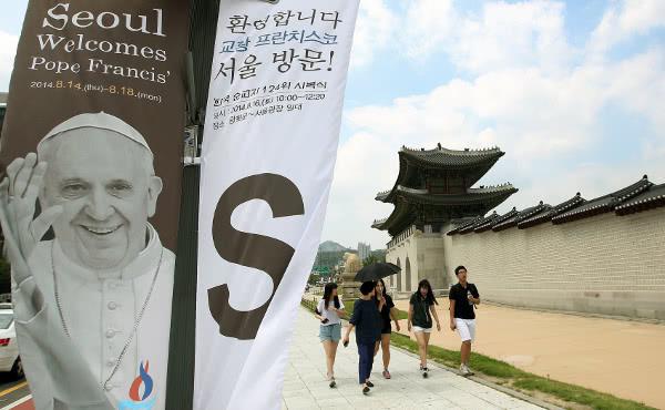 """Il Papa in Corea:""""C'è qualcosa per cui saremmo disposti a morire?"""""""