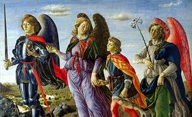 Els arcàngels Miquel, Gabriel i Rafael