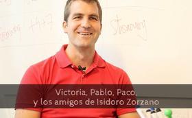 Victoria, Pablo, Paco, y los amigos de Isidoro Zorzano