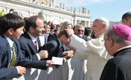 All'udienza generale per ringraziare Papa Francesco