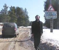 Camino de su parroquia en Komi.