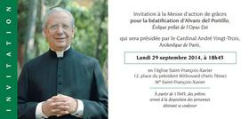 Messe d'action de grâce à Paris