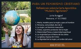 "Para un feminismo cristiano: reflexiones sobre la Carta Apostólica ""Mulieris Dignitatem"""