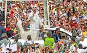 教宗在哥倫比亞