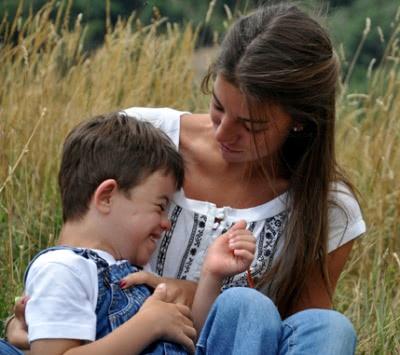 Almudena con su hermano Felipe