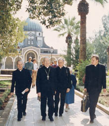 During the pilgrimage to the Holy Land.