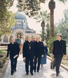 Durante il pellegrinaggio in Terra Santa.