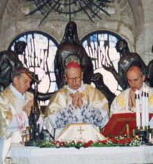 Bishop Alvaro del Portillo celebrated his last Mass in Jerusalem.