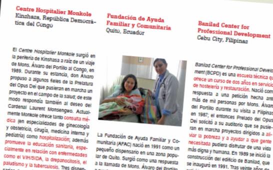 Iniciativas sociales y educativas alentadas por Álvaro del Portillo