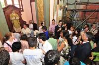 Após a Missa, o público se dirigiu ao local da imagem para rezar a São Josemaria