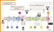 En karta över Valdebebas till biskop Álvaros saligförklaring