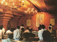 Capilla de la Virgen de Guadalupe en el Santuario de Torreciudad.