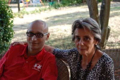 Álvaro con su madre