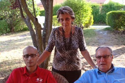 Álvaro con sus padres