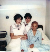 Álvaro, con sus enfermeras