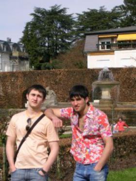 Алик в студенческой резиденции Opus Dei в Страсбурге