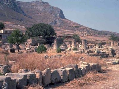 Corinthe. Vue de l'ancien forum