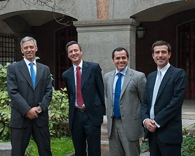 Los cuatro argentinos: Julio Paz, Andrej Rant, Juan José Salinas, Adolfo Qüerio