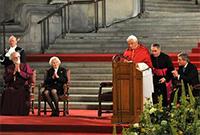 Benedicto XVI durante su discurso