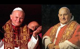 يوحنا الثالث والعشرين ويوحنا بولس الثاني: باباوان قديسان... وقديسين مريميين