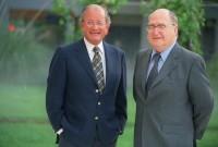 El Dr. Abel Albino con el Dr. Fernando Monckeberg, fundador de CONIN en Chile