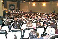 El acto se celebró en el salón de actos de la UNED de Barbastro.