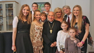 With the Borovsky family.