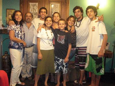 La familia entera