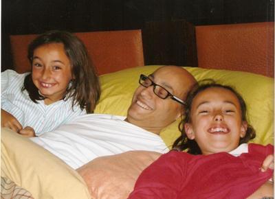 María, Álvaro y Georgina (sus sobrinas)