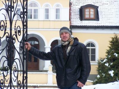 Grzegorz Roś em uma atividade de formação cristã organizada pelo Opus Dei na Polônia.
