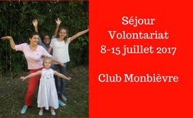 Séjour volontariat avec le club Monbièvre
