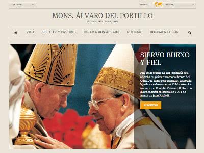 Aspecto de la futura nueva web de don Álvaro.
