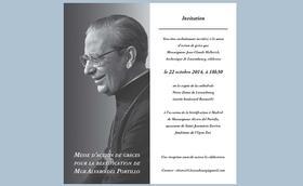 Messe d'action de grâce à Luxembourg pour la béatification de Mgr Alvaro del Portillo