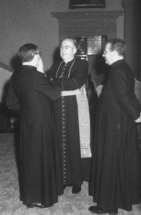Kardinal König in Villa Vecchia, Rom, 1963