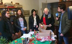 Kerstpakkettenactie in De Borcht