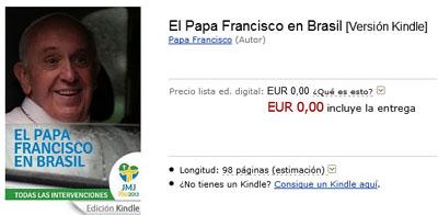 El libro El Papa Francisco en Brasil, con todas las intervenciones del Papa Francisco en la JMJ de Río de Janeiro.