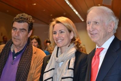 Emilio Calatayud, Arantza Quiroga y Leopoldo Abadía fueron los ponentes de la mesa redonda 'Mujer, educación y familia'