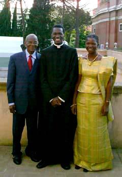 Pe. Landry com seus pais