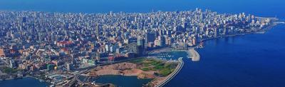 Uma imagem de Beirute, capital do Líbano.